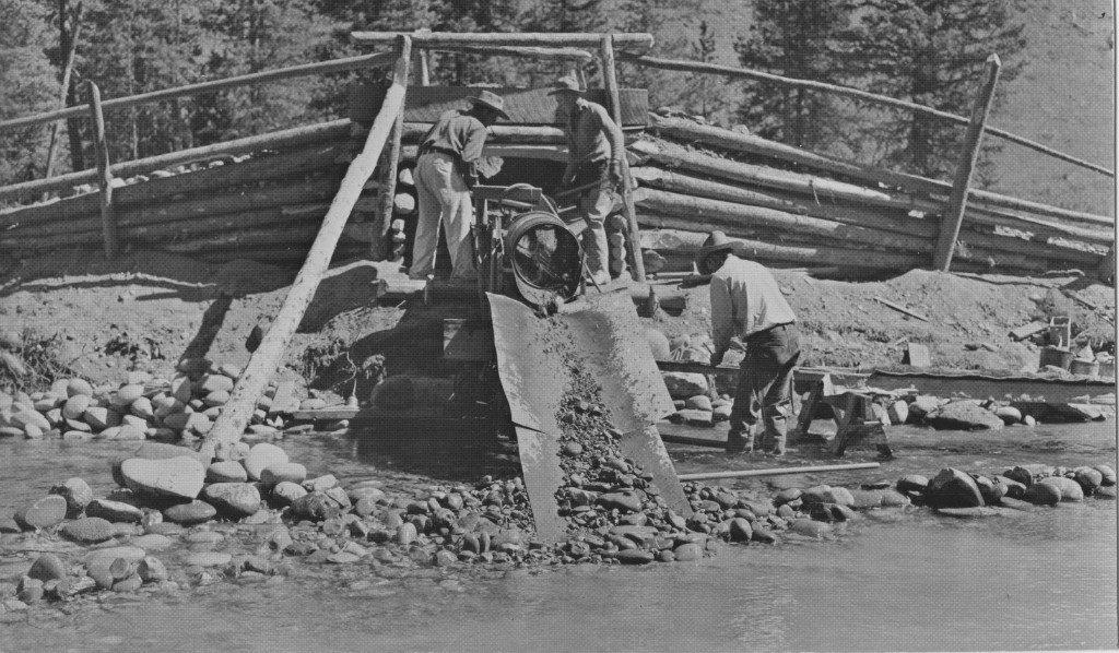 Mining operation in Jackson Hole. Collection of the Jackson Hole Historical Society & Museum