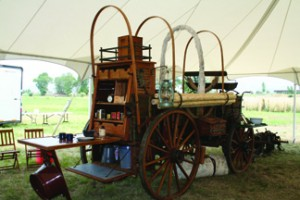 Caterer covered wagon