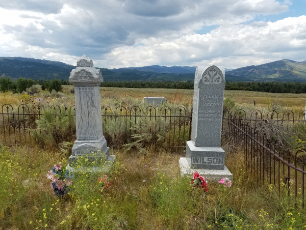 The first graves in the South Park Cemetery. Photo by Samantha Ford