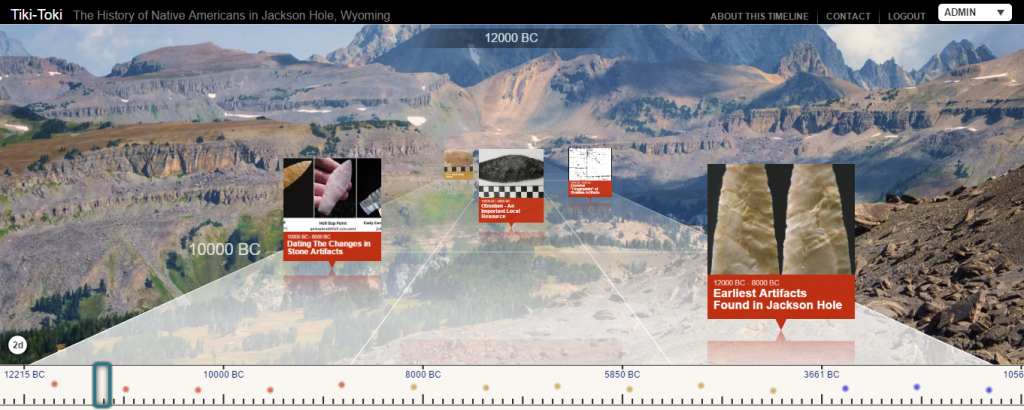 Click on the image above for a timeline of archaeological history in Jackson Hole.