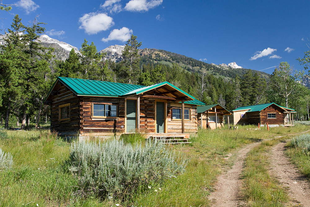 sleeping cabins at white grass dude ranch photo by samantha ford