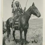 Dick Washakie on Horseback