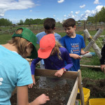 Jr. Archaeologists at work at the Linn Site Excavation