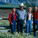 Claire and Bob McConaughy with Cara and Howard Stirn. Courtesy of the R Lazy S Ranch.