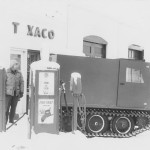 Snow Tractor at Texaco Station