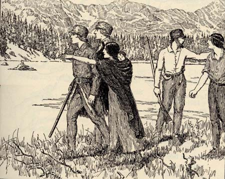 Fig 11: The Bird Woman Showing Lewis and Clark the Way