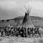 131. Washakie camp at South Pass
