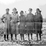 "196. ""Indian School Girls at Indian School Wind River"""