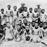 199. Boys from Government School at Washakie Plunge with teacher