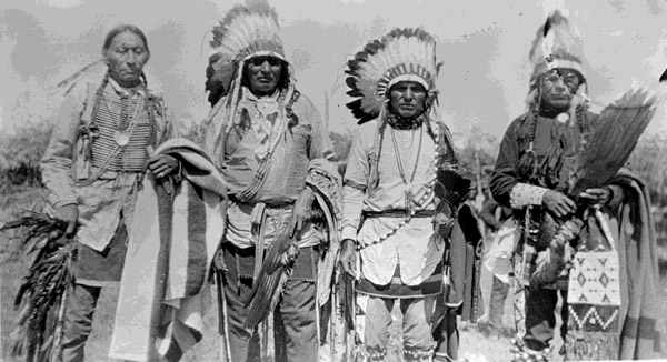 19. Arapaho leaders, Goes-In Lodge on left