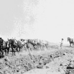 47. Digging irrigation ditches with horses