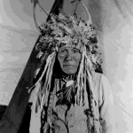 54. Indian man in ceremonial headdress with horns