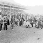 57. Dancers in regalia either at Lander 4th of July or Cheyenne Frontier Days possibly same event as # 56