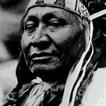 "65. ""Chief Yellow Calf"" portrait with war bonnet"