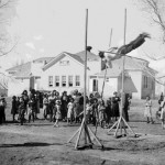 95. Pole vaulting display Fair day Government School