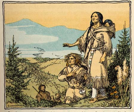 Fig 15: Sacajawea, an Indian Girl, D. Handsaker, 1932