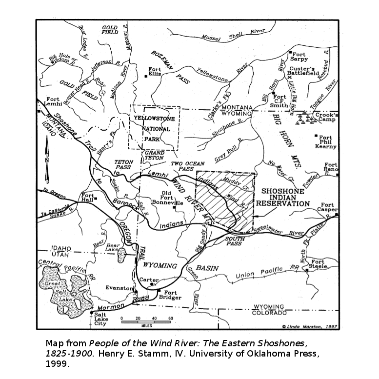 Wind River Treaty Documents Jackson Hole Historical Society Museum - Jackson hole us map