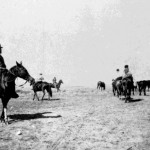 106. Indians on horseback – possible Washakie front left