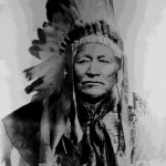 115. Washakie portrait in war bonnet
