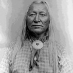 118. Washakie portrait with round disc scarf slide