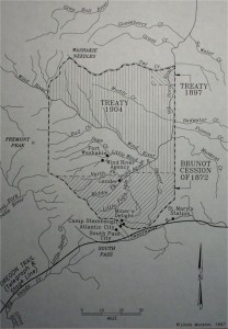 map of the cessions of reservation land