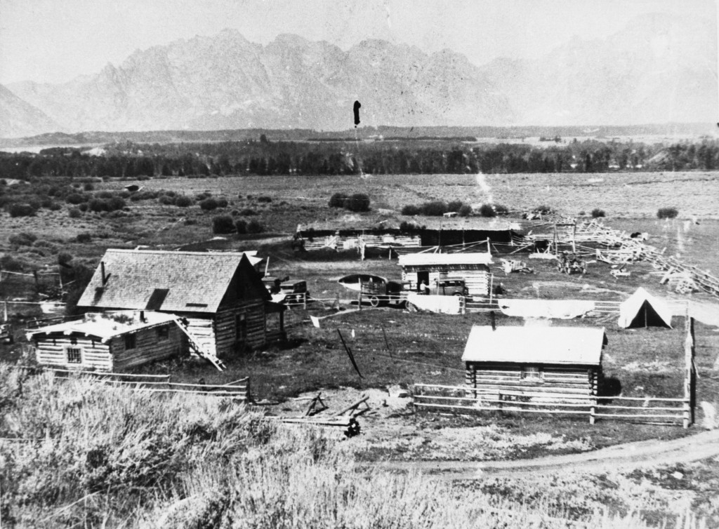 A homestead near Moran. Collection of the Jackson Hole Historical Society & Museum