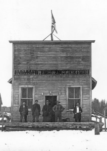 The first post office and store built by Nick Wilson. This building would later house a barber shop, and pool hall.