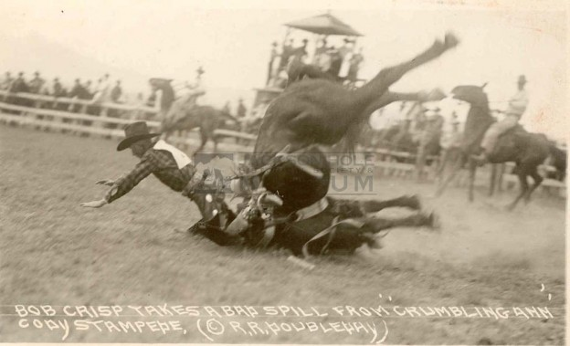 """Rodeos have always been chock full of thrills."" he wrote; adding "" I never rode a bad horse, they always bucked me off !"""