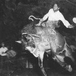 "Bill Saunders riding ""Pecos Bill"""