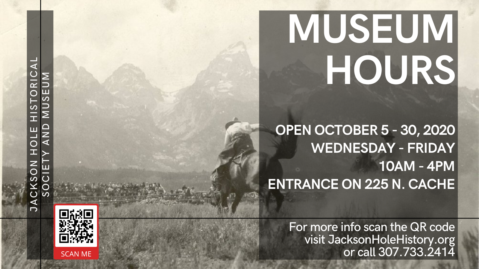 Jackson Hole Historical Society and Museum Open Hours October