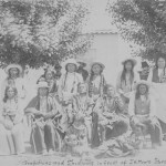 Arapahoes & Shoshonis in front of J.K Moores Store