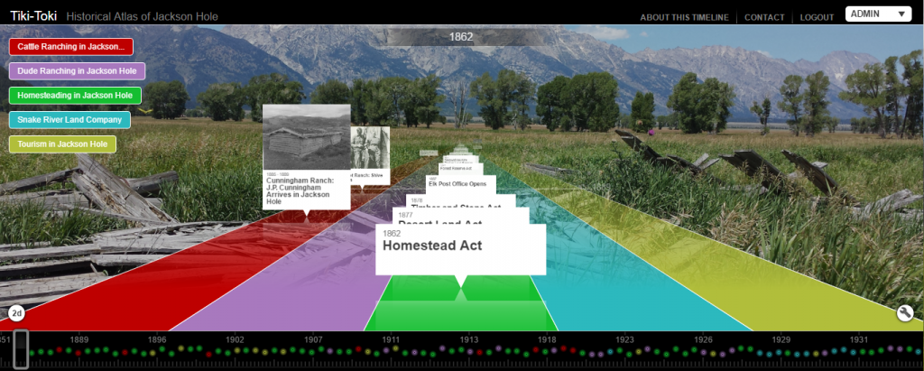 Click on the image above to view a timeline of homesteading history in Jackson Hole.