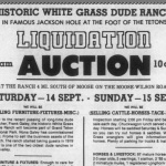 Auction ad for White Grass Ranch 1985.