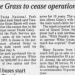 White Grass to cease operation 1985.