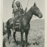 Dick Washakie on Horseback