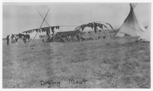 Drying Meat at Wind River