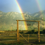 The R Lazy S Ranch gate. Courtesy of the R Lazy S Ranch.