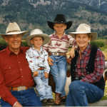 Howard and Cara Stirn with grandsons Matthew and William. Courtesy of the R Lazy S Ranch.