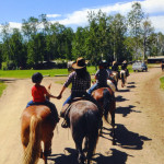 A pack trip returns to the ranch. Courtesy of the R Lazy S Ranch.