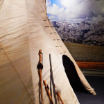 Our full-size tipi at the Mercill Archaeology Center makes a great place for students to work on activities or imagine what life was like in the past