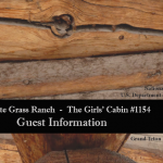 Cabin 1154 Guest Booklet
