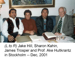 Sharon Kahin, James Trosper and Prof. Ake and Hultkrantz in Stockholm - Dec 2001
