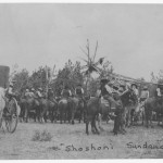 Shoshoni Sundance wagon on left