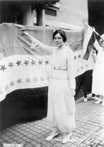 Library of Congress Woman Toasting Suffrage