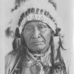 Yellow Calf in war bonnet (UW J.K. Moore Box 4)