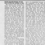 1960 Dude Ranch Rodeo to be Discontinued,