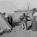 175. Duplicate Washakie with white women by tent