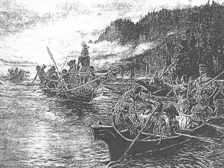 Fig 24: Lewis and Clark on the Lower Columbia
