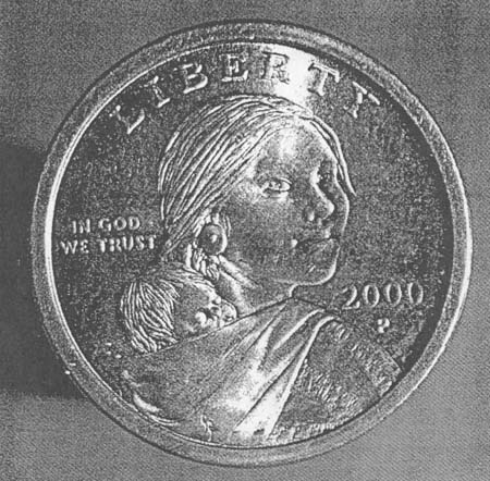 Fig 26: Sacagawea Golden Dollar, U.S. Mint, 2000
