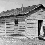 185. The building was the first Government Boarding School on trout Creek, then a mortuary, now at Sacajawea Cemetery